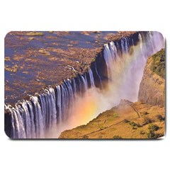 Waterfall Africa Zambia Large Doormat  by trendistuff