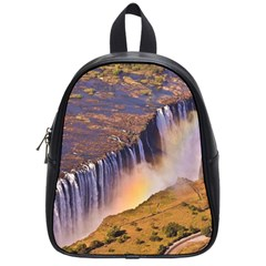 Waterfall Africa Zambia School Bags (small)  by trendistuff
