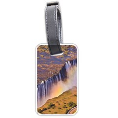Waterfall Africa Zambia Luggage Tags (one Side)  by trendistuff