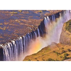 Waterfall Africa Zambia Birthday Cake 3d Greeting Card (7x5)