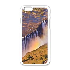 Waterfall Africa Zambia Apple Iphone 6/6s White Enamel Case by trendistuff