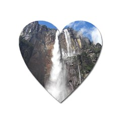 Salto Del Angel Heart Magnet by trendistuff