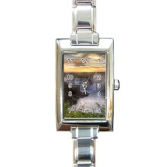 Iguazu Falls Rectangle Italian Charm Watches by trendistuff