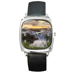 Iguazu Falls Square Metal Watches by trendistuff