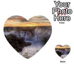 Iguazu Falls Multi Purpose Cards (heart)  by trendistuff