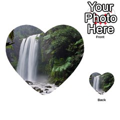 Hopetoun Falls Multi Purpose Cards (heart)  by trendistuff