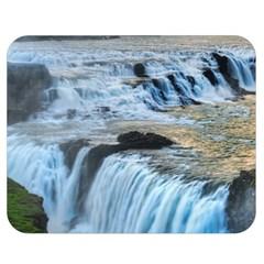 Gullfoss Waterfalls 2 Double Sided Flano Blanket (medium)  by trendistuff