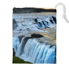 Gullfoss Waterfalls 2 Drawstring Pouches (xxl) by trendistuff
