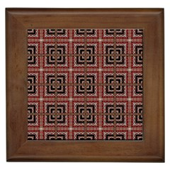 Check Ornate Pattern Framed Tiles by dflcprints