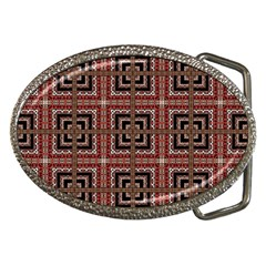 Check Ornate Pattern Belt Buckles by dflcprints