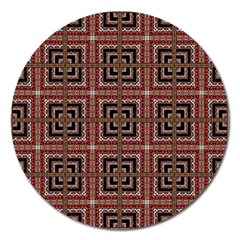 Check Ornate Pattern Magnet 5  (round) by dflcprints