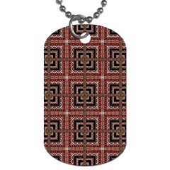 Check Ornate Pattern Dog Tag (one Side) by dflcprints