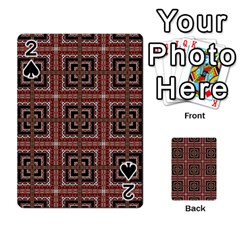 Check Ornate Pattern Playing Cards 54 Designs