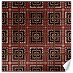 Check Ornate Pattern Canvas 12  X 12   by dflcprints