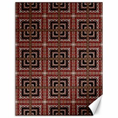 Check Ornate Pattern Canvas 12  X 16   by dflcprints