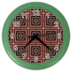 Check Ornate Pattern Color Wall Clocks by dflcprints