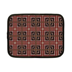 Check Ornate Pattern Netbook Case (small)  by dflcprints