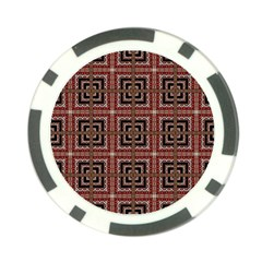 Check Ornate Pattern Poker Chip Card Guards (10 Pack)  by dflcprints