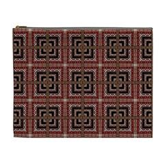 Check Ornate Pattern Cosmetic Bag (xl) by dflcprints