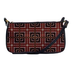 Check Ornate Pattern Shoulder Clutch Bags by dflcprints