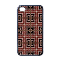 Check Ornate Pattern Apple Iphone 4 Case (black) by dflcprints