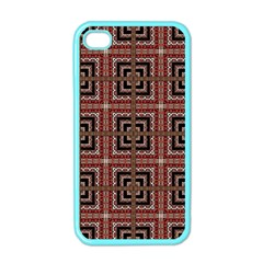 Check Ornate Pattern Apple Iphone 4 Case (color) by dflcprints