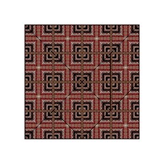Check Ornate Pattern Acrylic Tangram Puzzle (4  X 4 ) by dflcprints