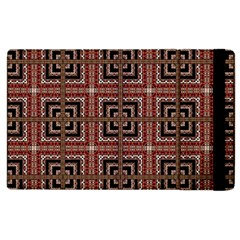 Check Ornate Pattern Apple Ipad 3/4 Flip Case by dflcprints