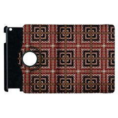 Check Ornate Pattern Apple Ipad 2 Flip 360 Case by dflcprints