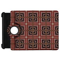 Check Ornate Pattern Kindle Fire Hd Flip 360 Case by dflcprints