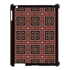 Check Ornate Pattern Apple Ipad 3/4 Case (black) by dflcprints