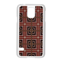 Check Ornate Pattern Samsung Galaxy S5 Case (White) by dflcprints