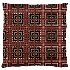Check Ornate Pattern Standard Flano Cushion Cases (two Sides)  by dflcprints