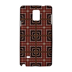 Check Ornate Pattern Samsung Galaxy Note 4 Hardshell Case by dflcprints