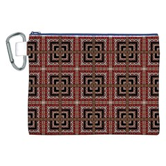 Check Ornate Pattern Canvas Cosmetic Bag (xxl)  by dflcprints