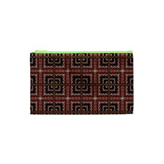Check Ornate Pattern Cosmetic Bag (xs) by dflcprints