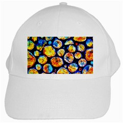 Woodpile Abstract White Cap by Costasonlineshop