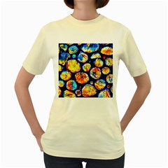 Woodpile Abstract Women s Yellow T Shirt