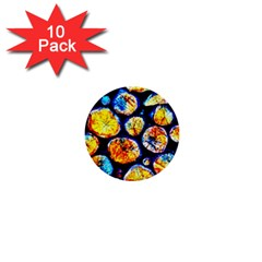 Woodpile Abstract 1  Mini Buttons (10 Pack)  by Costasonlineshop