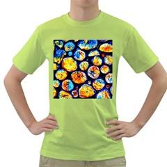 Woodpile Abstract Green T Shirt