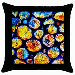 Woodpile Abstract Throw Pillow Cases (black)
