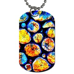 Woodpile Abstract Dog Tag (Two Sides) by Costasonlineshop