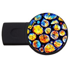 Woodpile Abstract Usb Flash Drive Round (2 Gb)  by Costasonlineshop