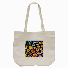 Woodpile Abstract Tote Bag (cream)  by Costasonlineshop