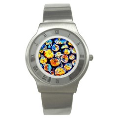 Woodpile Abstract Stainless Steel Watches by Costasonlineshop