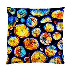 Woodpile Abstract Standard Cushion Case (one Side)  by Costasonlineshop