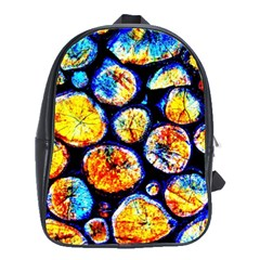 Woodpile Abstract School Bags(large)