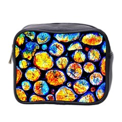 Woodpile Abstract Mini Toiletries Bag 2 Side