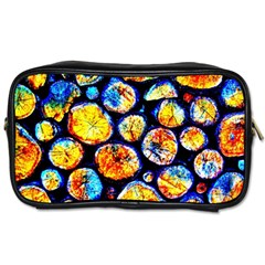 Woodpile Abstract Toiletries Bags