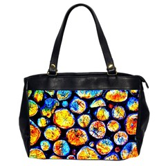 Woodpile Abstract Office Handbags (2 Sides)  by Costasonlineshop